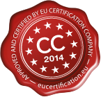 Approved and certified by EU certification company